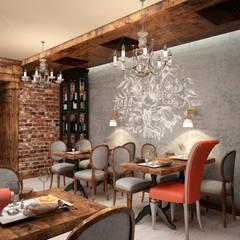 Декор интерьера ресторана - стена с росписью: Ресторации в . Автор – Art-i-Chok