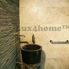 Stojąca umywalka kamienna do łazienki - Umywalki wolnostojące: styl , w kategorii Łazienka zaprojektowany przez Lux4home™