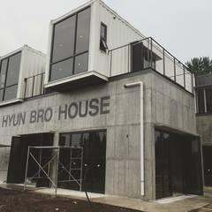 현브로하우스: 디자인브라더스의  테라스 주택