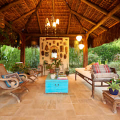 Casa Oriente: Jardins zen  por Maria Luiza Aceituno arquitetos