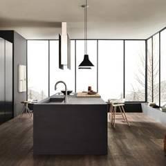 Proyecto de diseño interior y mobiliario: Cocinas de estilo minimalista por Felipe Lara &  Cía