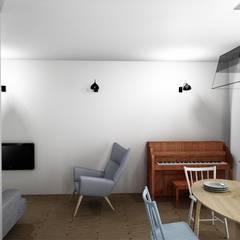 Dom w lesie: styl , w kategorii Jadalnia zaprojektowany przez Projektownia Marzena Dąbrowska