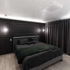 익산인테리어 익산 포스코 더샵 40평대 아파트인테리어 by 디자인투플라이: 디자인투플라이의  침실,클래식