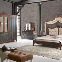 PapDükkan – Vintage Yatak Odası: klasik tarz tarz Yatak Odası