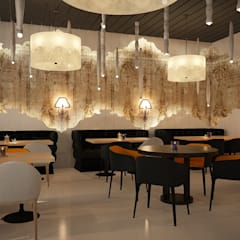 Оригинальная отделка зала ресторана: Ресторации в . Автор – Art-i-Chok
