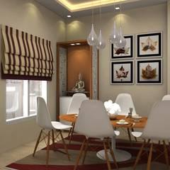 3BHK,Manish Nagar, Nagpur Modern living room by Form & Function Modern