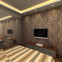 3BHK,Manish Nagar, Nagpur Modern style bedroom by Form & Function Modern