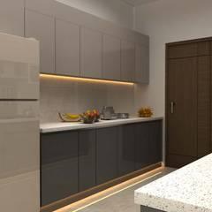 3BHK,Manish Nagar, Nagpur Modern kitchen by Form & Function Modern