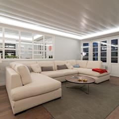 Reforma integral en Neguri: Salones de estilo  de Gumuzio&MIGOYA arquitectura e interiorismo