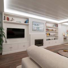 Reforma integral en Neguri: Salones de estilo  de Gumuzio&PRADA diseño e interiorismo