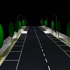 Parque Empresarial das Lajes - Ilha Terceira: Pavimentos  por PE. Projectos de Engenharia, LDa