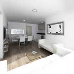 Residencial Aguarico: Salas de entretenimiento de estilo moderno por Prototype Arquitectos S.A.C.