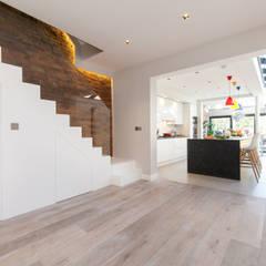 Weybridge House Refurbishment:  Stairs by Timothy James Interiors