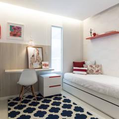 Apartamento de Praia S + T: Quartos  por Coletânea Arquitetos