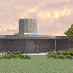 Fachada Variante 02: Casas unifamiliares de estilo  por Arq. Melisa Cavallo