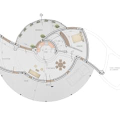 Planta Variante 02: Casas unifamiliares de estilo  por Arq. Melisa Cavallo