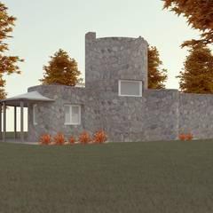 Fachada Variante 03: Casas unifamiliares de estilo  por Arq. Melisa Cavallo