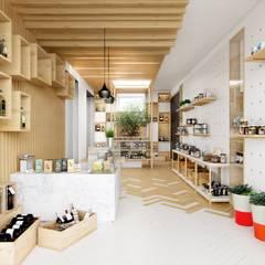 LOJA GOURMET BRAGA: Espaços comerciais  por Fachada Arquitectos