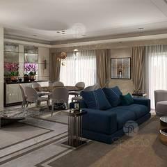 :  غرفة المعيشة تنفيذ Spazio Interior Decoration LLC,حداثي