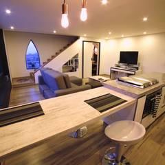 APARTAMENTO GP-43: Cocinas de estilo  por RIVAL Arquitectos  S.A.S.