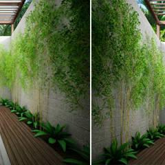 Jardines en la fachada de estilo  por Công ty TNHH Xây Dựng TM – DV Song Phát