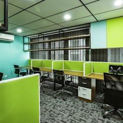 Modern Industrial. Colours. Office:  Offices & stores by inDfinity Design (M) SDN BHD