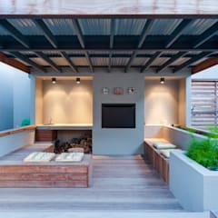 House Brand:  Patios by JBA Architects, Modern Solid Wood Multicolored