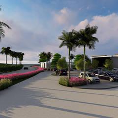 vista general: Jardines en la fachada de estilo  por Verde Lavanda