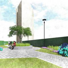 glorieta: Jardines en la fachada de estilo  por Verde Lavanda