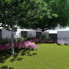 detalle jardin interior: Jardines en la fachada de estilo  por Verde Lavanda