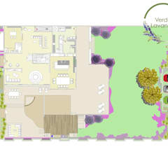 propuesta: Jardines en la fachada de estilo  por Verde Lavanda