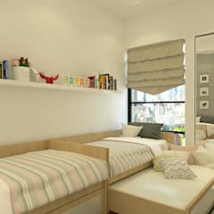 Stonor Luxury Condo:  Bedroom by inDfinity Design (M) SDN BHD,