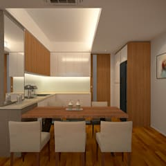 Stonor Luxury Condo:  Living room by inDfinity Design (M) SDN BHD, Modern