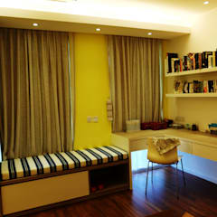 Contemporary Tropical , 3-Storey semi-D:  Bedroom by inDfinity Design (M) SDN BHD, Tropical