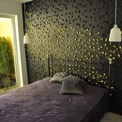 Wandpaneele aus Gips ROSEN GARDEN:  Schlafzimmer von Loft Design System Deutschland