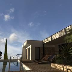 Conception et demande de permis de construire: Piscines  de style  par Atoutplans Architecture
