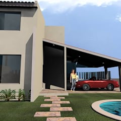 Casa Palombini: Villas de estilo  por SG Huerta Arquitecto Cancun