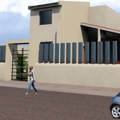 Casa Palombini: Albercas de jardín de estilo  por SG Huerta Arquitecto Cancun