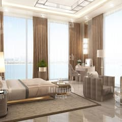 ​Home design styles of Katrina Antonovich:  Bedroom by Luxury Antonovich Design