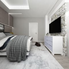 CASA AV: Camera da letto in stile  di De Vivo Home Design