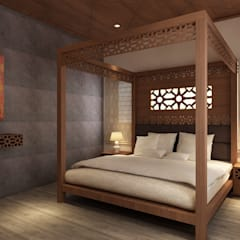 Cuartos de estilo  por S Squared Architects Pvt Ltd.