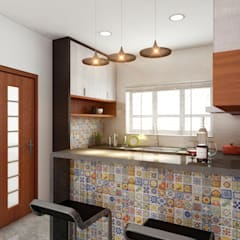 Kitchen by S Squared Architects Pvt Ltd.