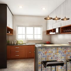 Cocinas de estilo  por S Squared Architects Pvt Ltd.