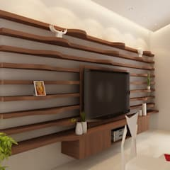 Living room by S Squared Architects Pvt Ltd.