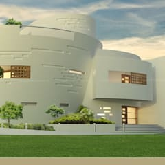 The UFO House:  Bungalows by S Squared Architects Pvt Ltd.