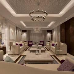 Villa:  Living room by dal design office, Modern