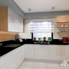 Dom w Kartuzach: styl , w kategorii Kuchnia na wymiar zaprojektowany przez AKAart Pracownia Projektowa