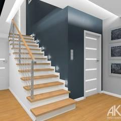 Dom w Kartuzach: styl , w kategorii Schody zaprojektowany przez AKAart Pracownia Projektowa
