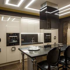 Реализованный интерьер квартиры на ул.Авиационная: Кухни в . Автор – Дизайн Студия 33