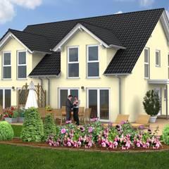 Haus Idee Doppelhaushälfte mit einer Wohnfläche von ca. 100 m²:  Holzhaus von SI-Massivhaus